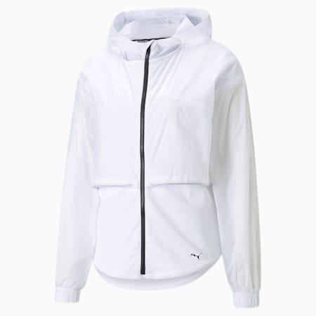 Ultra Women's Hooded Training Jacket, Puma White, small-GBR
