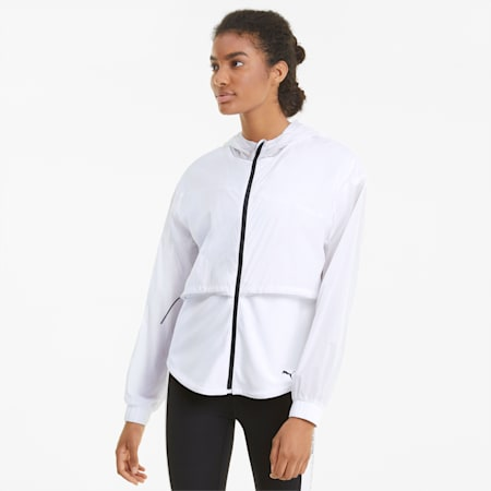 Ultra Women's Hooded Training Jacket, Puma White, small-IND