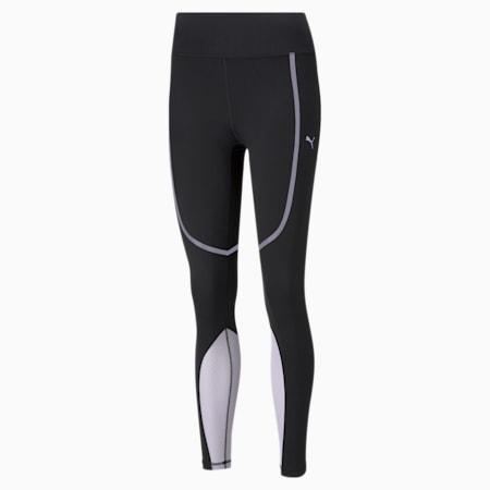 Bonded High Waist Full Length Women's Training Leggings, Puma Black-Light Lavender, small-IND