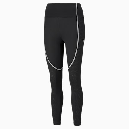 Digital Women's High Waist 7/8 Training Leggings, Puma Black-gradient print, small
