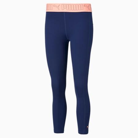 Elastic 7/8 Women's Training Leggings, Elektro Blue, small-SEA
