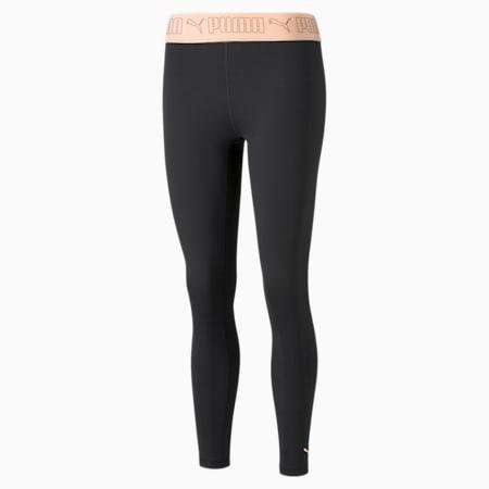 Elastic 7/8 Women's Training Leggings, Puma Black-Peach Parfait, small-GBR