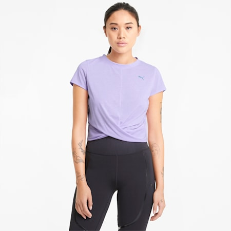 Twisted Women's Training Tee, Light Lavender, small