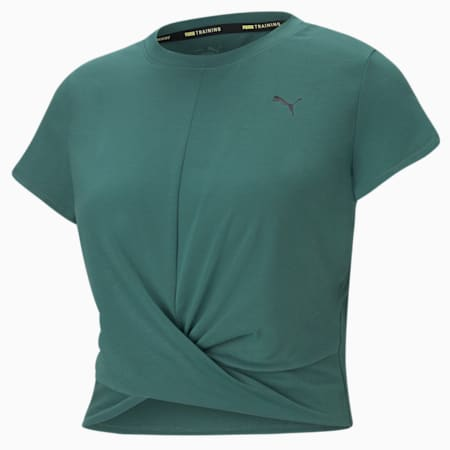 Twisted Women's Training Tee, Blue Spruce, small