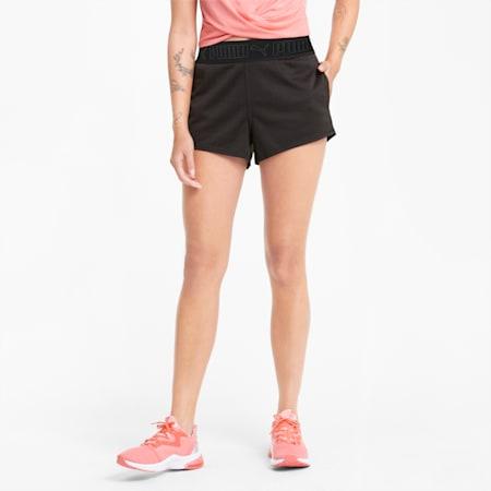 "Elastic 3"" Women's Training Shorts, Puma Black-Eggnog, small-SEA"
