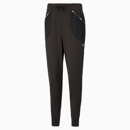 Logo Women's Training Relaxed SweatPants, Puma Black, small-IND