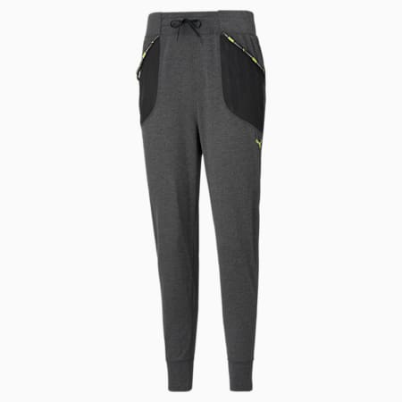 Logo Women's Training Relaxed SweatPants, Dark Gray Heather, small-IND