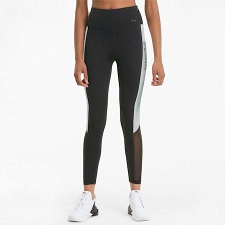 Mallas de entrenamiento de largo 7/8 para mujer Logo Block, Puma Black-Puma White, small