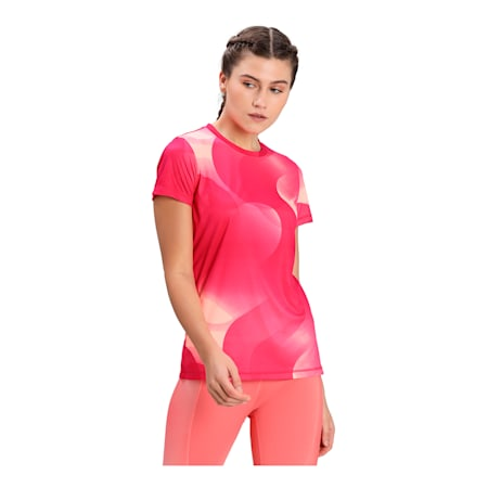 Performance Printed Short Sleeve Women's Training  T-shirt, Love Potion, small-IND