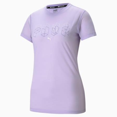 Performance Branded Short Sleeve Women's Training  T-shirt, Light Lavender, small-IND
