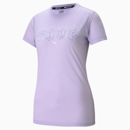 Performance Branded Short Sleeve Women's Training Tee, Light Lavender, small-SEA