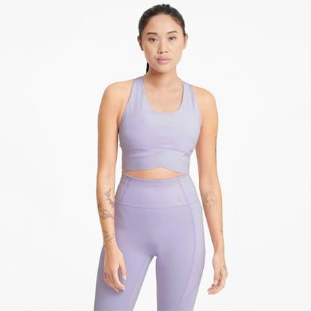 Forever Luxe ellaVATE Women's Training Bra, Light Lavender, small