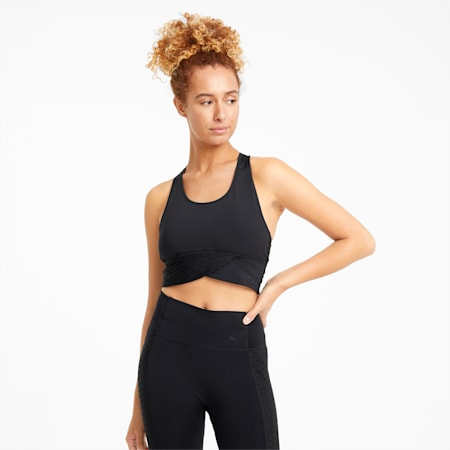 Mid Impact Flawless Women's Training Bra, Puma Black, small