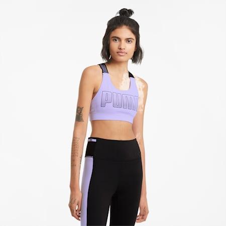 Damski biustonosz treningowy do ćwiczeń o średniej intensywności Feel It, Light Lavender, small