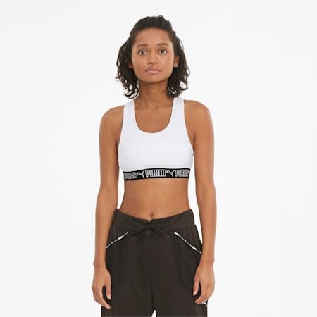 Reggiseno sportivo per allenamenti a medio impatto Elastic donna, Puma White, small