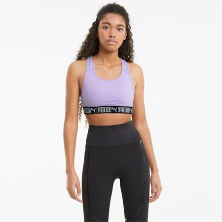 Reggiseno sportivo per allenamenti a medio impatto Elastic donna, Light Lavender, small