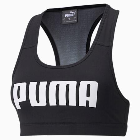 Sujetador de entrenamiento 4Keeps mediano impacto de mujer, Puma Black, pequeño