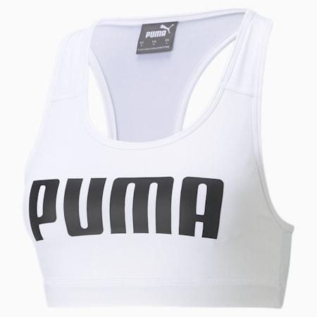 Sujetador de entrenamiento 4Keeps mediano impacto de mujer, Puma White, pequeño