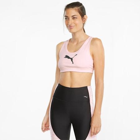 Mid Impact 4Keeps Women's Training Bra, Lotus-Puma Black-CAT, small