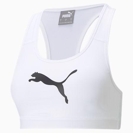 Mid Impact 4Keeps sportbeha, Puma White-black BIG CAT, small