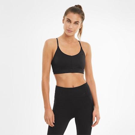 Low Impact Strappy Women's Training Bra, Puma Black, small-GBR