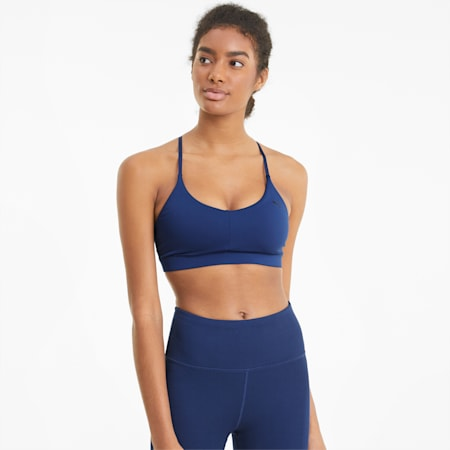 Reggiseno sportivo con spalline per allenamenti a basso impatto donna, Elektro Blue, small