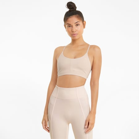 Low Impact Strappy Damen Sport-BH, Cloud Pink, small