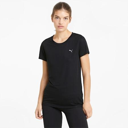 Performance Damen Trainings-T-Shirt, Puma Black, small