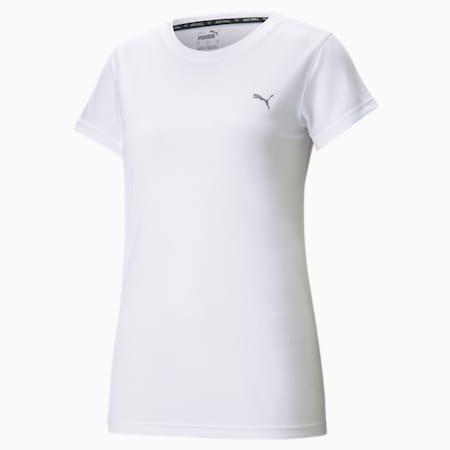 퍼포먼스 반팔 티/PERFORMANCE TEE W, Puma White, small-KOR
