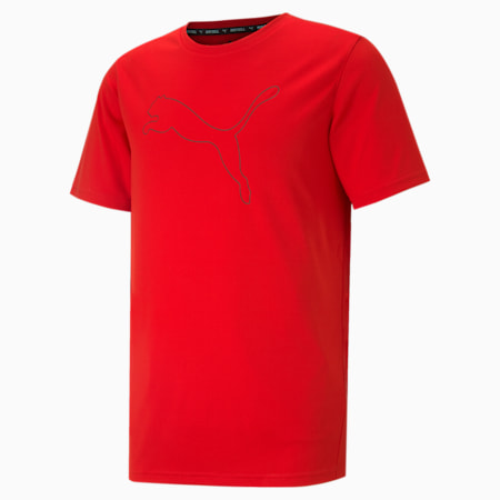Performance Cat Men's Training Tee, High Risk Red, small-SEA