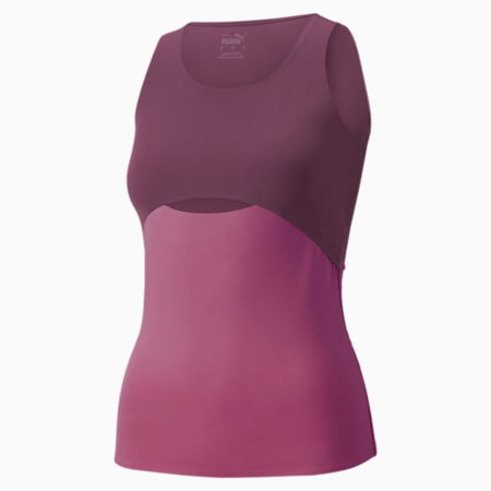 Forever Luxe Women's Training Tank, Night Rose-Bright Berry, small