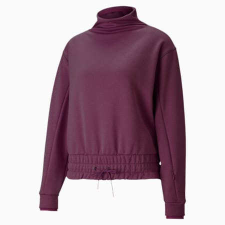 Forever Luxe Mock Neck Training Top, Night Rose Heather, small