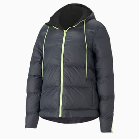 Forever Luxe Women's Hooded Training Jacket, Ebony-Puma Black-reversible, small