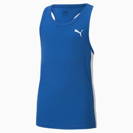 Cross the Line 2.0 Kid's Performance Singlet, Team Power Blue-Puma White, small-IND