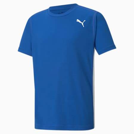 Cross the Line 2.0 Kid's Performance T-shirt, Team Power Blue-Puma White, small-IND
