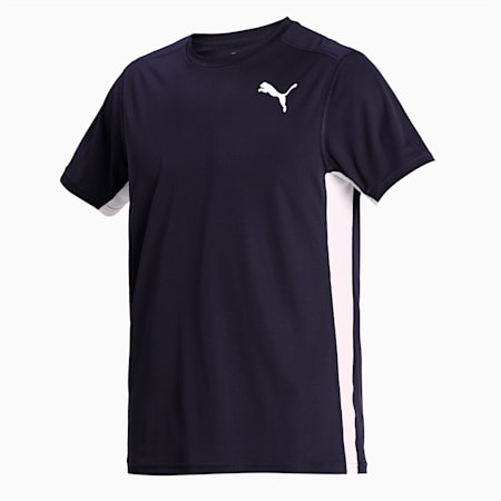 Cross the Line 2.0 Men's Track and Field Performance Fit T-shirt, Puma New Navy-Puma White, small-IND