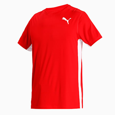 Cross the Line 2.0 Men's Track and Field Performance Fit T-shirt, Puma Red-Puma White, small-IND
