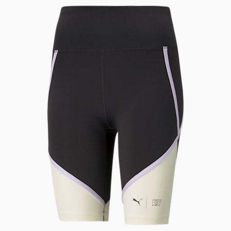 PUMA x FIRST MILE Women's Training Biker Shorts, Puma Black-Eggnog, small-SEA