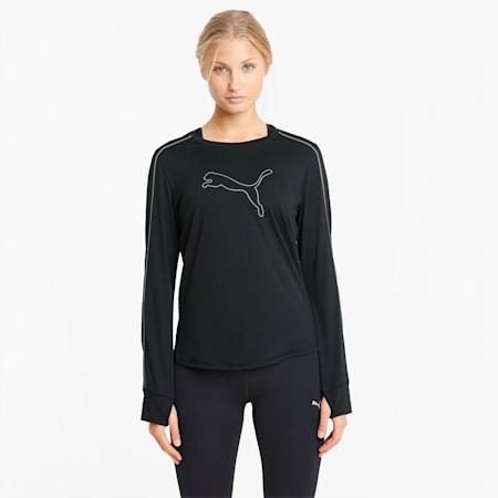 T-shirt da running a maniche lunghe COOL adapt donna, Puma Black, small