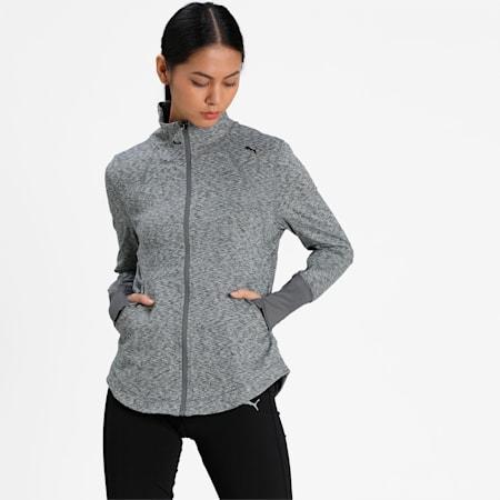Studio Full Zip Women's Knitted Jacket, Medium Gray Heather, small-IND