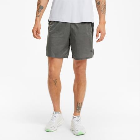"""Woven 7"""" Men's Running Shorts, CASTLEROCK, small"""