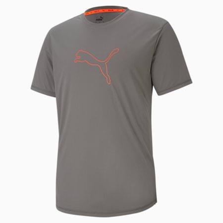 Logo Short Sleeve Men's Running Tee, CASTLEROCK, small-SEA