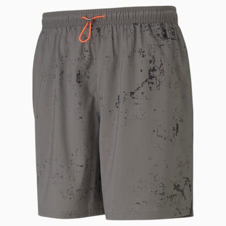 "Graphic 7"" Men's Running Shorts, CASTLEROCK, small-IND"