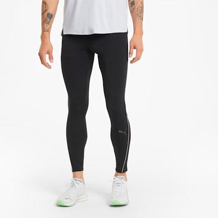 Pantaloni aderenti da running lunghi uomo, Puma Black, small