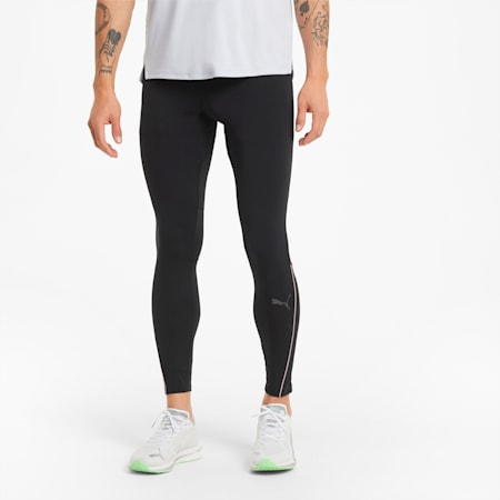 Long Men's Running Tights, Puma Black, small-GBR