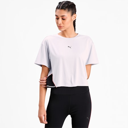 COOLadapt Women's Running Relaxed  T-shirt, Grey Dawn, small-IND
