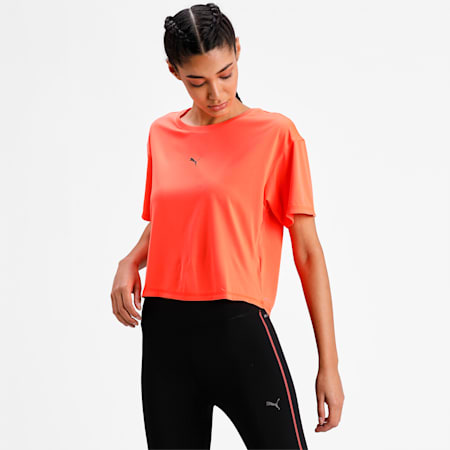COOLadapt Women's Running Relaxed  T-shirt, Lava Blast, small-IND