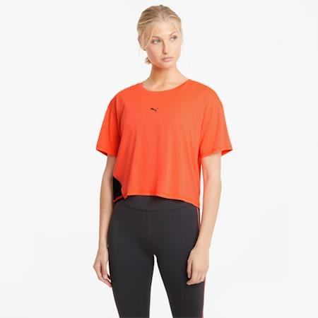 Camiseta para correr COOLadapt para mujer, Lava Blast, pequeño
