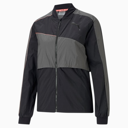 PUMA x TMC Run Jacket, Puma Black-CASTLEROCK, small-GBR