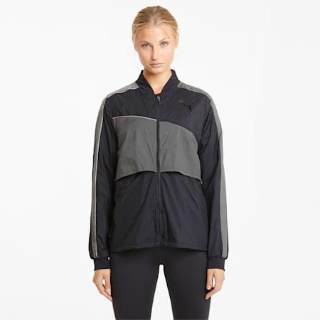 PUMA x TMC Run Jacket, Puma Black-CASTLEROCK, small